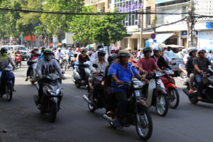 How to cross a road in Saigon