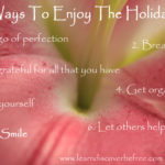 7 Ways To Enjoy The Holidays