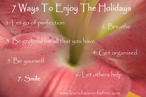 7 Ways To Enjoy The Holidays