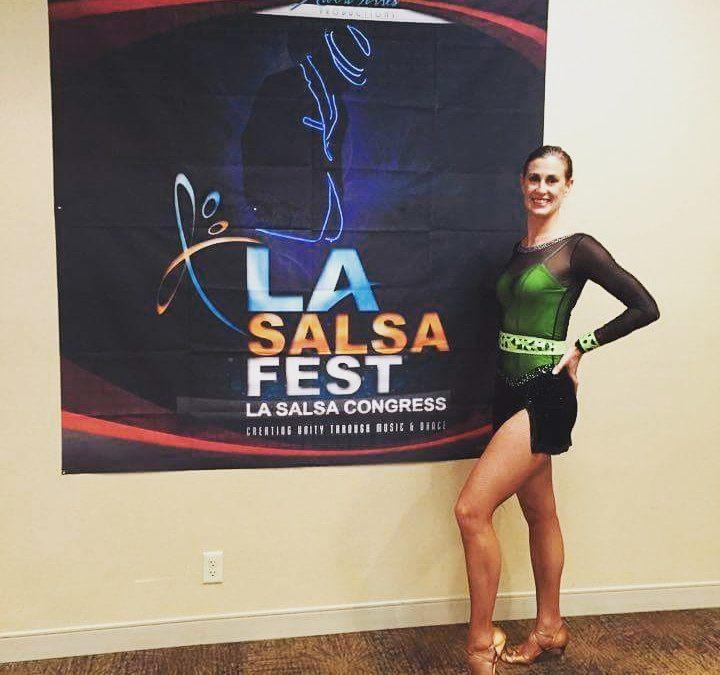 Performing at the LA Salsa Festival