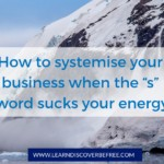 "How to systemise your business when the ""s"" word sucks your energy"