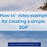 """How to"" example for creating a simple SOP"