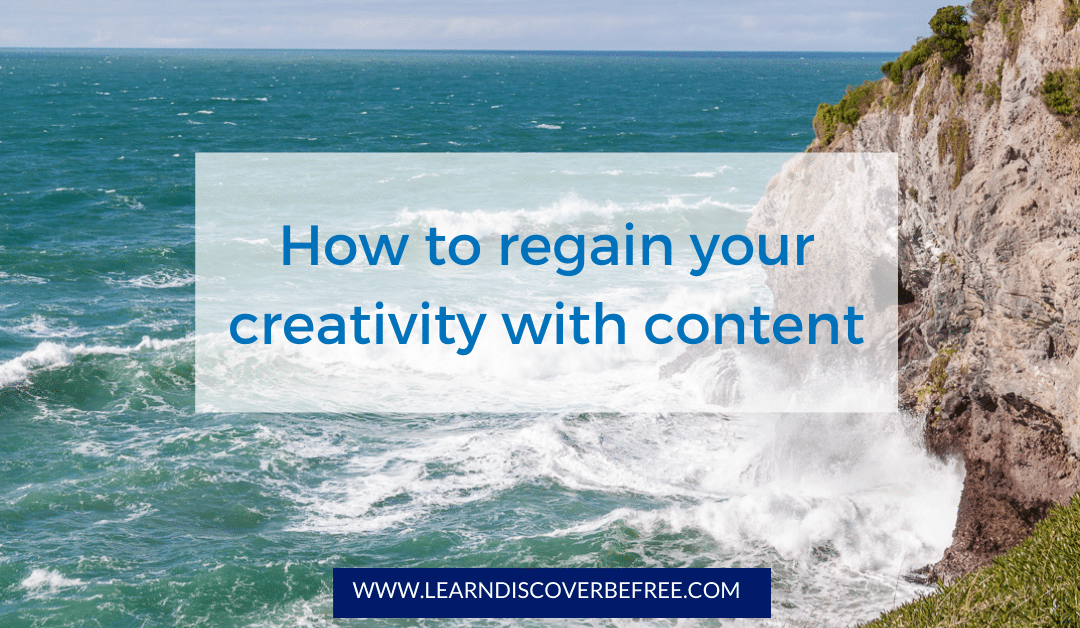 How to regain your creativity with content